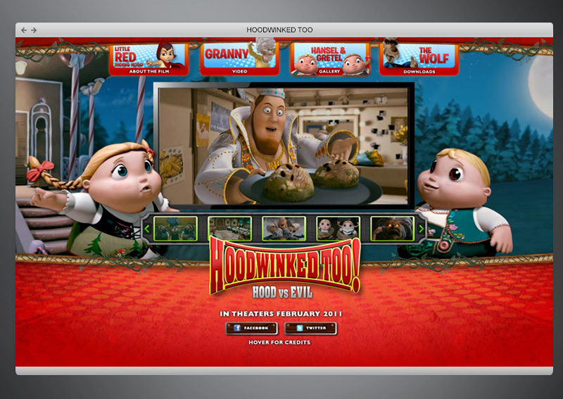 Hoodwinked 2 movie + Web Design