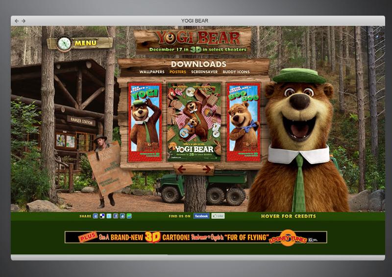 Yogi Bear Movie + Web Design